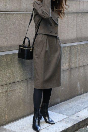 【vintage】Yves Saint Laurent / wool short jacket & narrow skirt set up