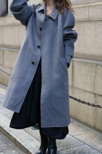 【vintage】Christian Dior / angora mix balmacaan coat / gray