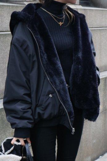 2way reversible faux fur MA-1 jacket