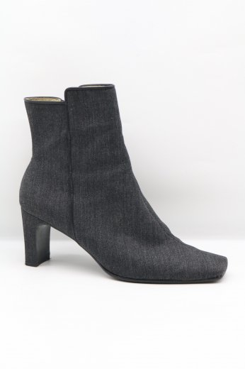 【vintage】Yves Saint Laurent / canvas heel boots