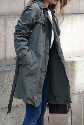 【vintage】VALENTINO / military nylon trench coat (cover case set)