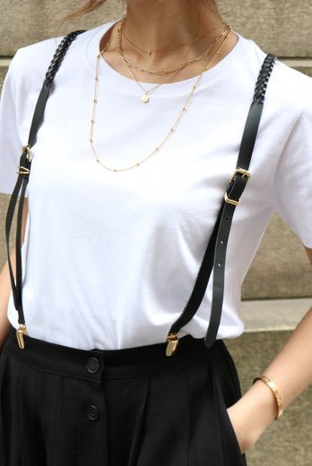 <img class='new_mark_img1' src='https://img.shop-pro.jp/img/new/icons57.gif' style='border:none;display:inline;margin:0px;padding:0px;width:auto;' />gold clip Y type mesh leather suspenders