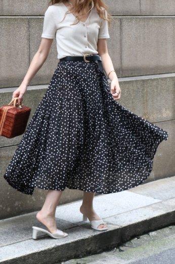 【vintage】KENZO / dot pattern yoke flare skirt