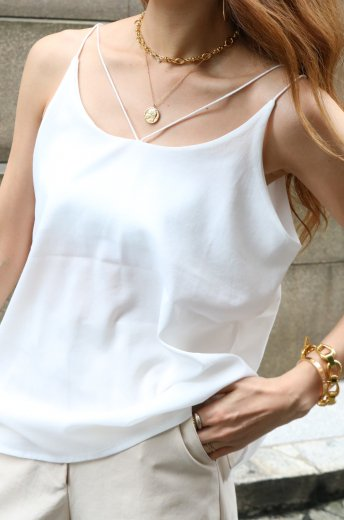 2way strap camisole / white
