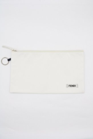 【vintage】FENDI / logo key ring nylon clutch bag