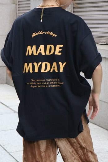 "original ""MADE MY DAY"" big silhouette tee / black"