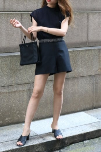 【vintage】BALENCIAGA / waist flat chain design short pants