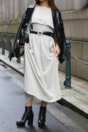 square bib collar retro flare dress / mint