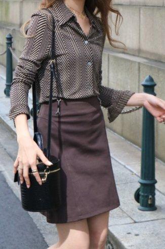 【vintage】CELINE / diagonal stripe blouse