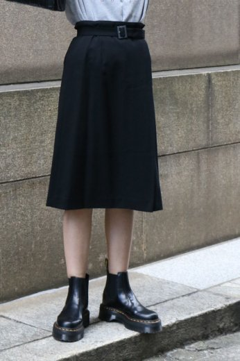 【vintage】GIVENCHY / wool wrap skirt (logo buckle belt set)