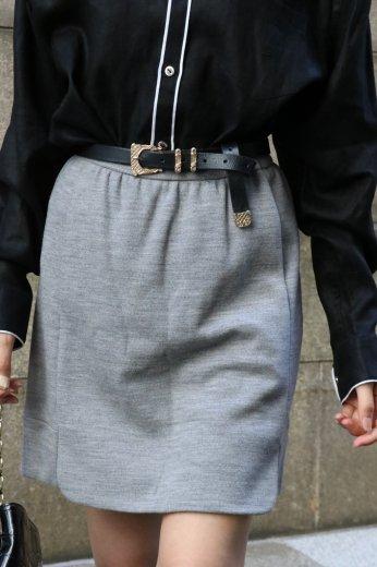 【vintage】BALENCIAGA / front slit trapeze mini skirt