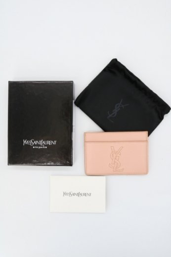【vintage】Yves Saint Laurent / logo embroidery card case