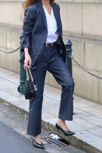【vintage】KENZO / layered jacket & pants suit set up