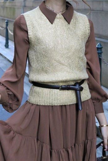 【vintage】CELINE / round neck cashmere vest