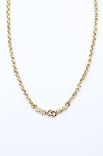 【vintage】Christian Dior / CD logo arch top gold chain necklace