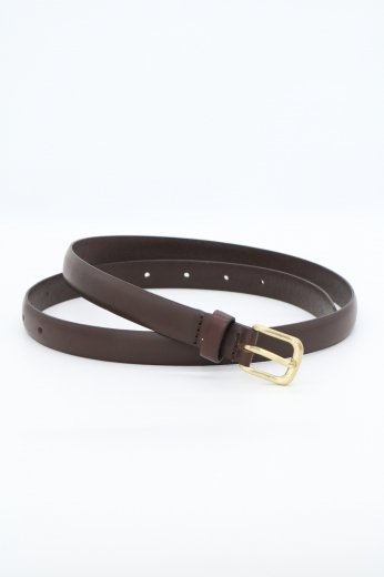 fake leather plain belt / dark brown