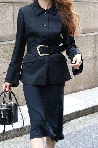 【vintage】BALENCIAGA / flare cuffs convertible collar jacket
