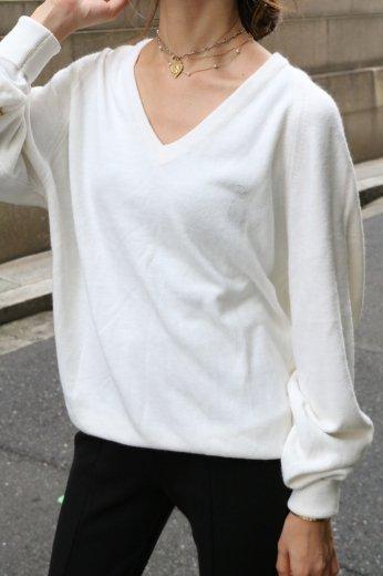 【vintage】Christian Dior / 90's Dior logo V neck knit tops