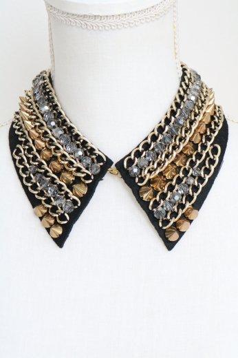 studs&chain decoration detachable collar