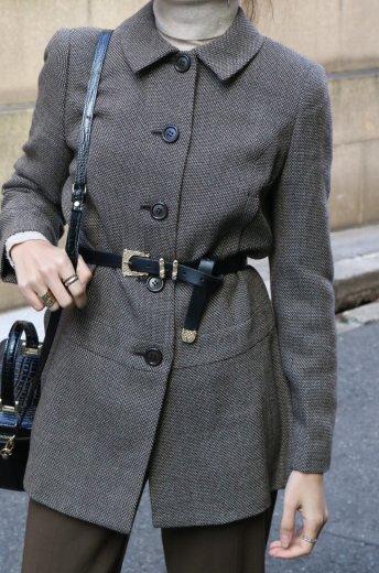 【vintage】BALENCIAGA / soutien collar wool coat
