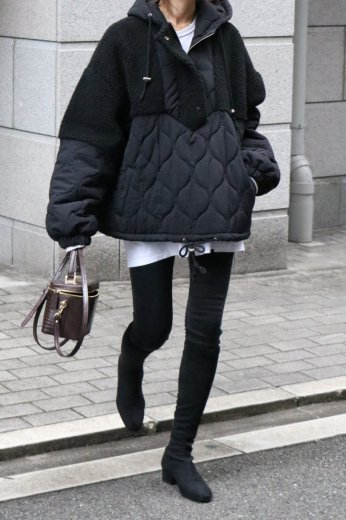 <img class='new_mark_img1' src='https://img.shop-pro.jp/img/new/icons57.gif' style='border:none;display:inline;margin:0px;padding:0px;width:auto;' />boa docking quilting anorak / black