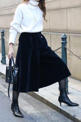 【vintage】Christian Dior / DIOR logo ring charm velours gaucho pants