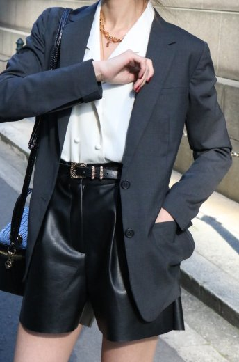 【vintage】PRADA / 2B rubber hem tailored jacket