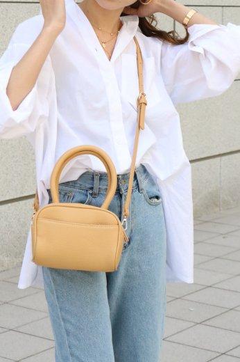 fishtail basic cotton shirt / white