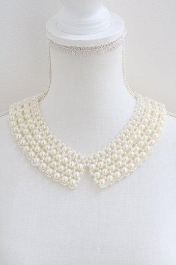 short point pearl decoration detachable collar