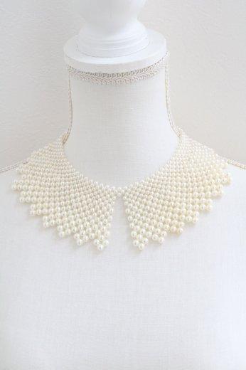 lace motif pearl decoration detachable collar
