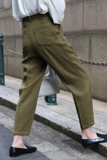 【vintage】Christian Dior / CD embroidery logo pocket  high waist tapered pants