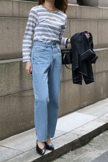 <img class='new_mark_img1' src='https://img.shop-pro.jp/img/new/icons14.gif' style='border:none;display:inline;margin:0px;padding:0px;width:auto;' />【vintage】KENZO / round neck stripe tops