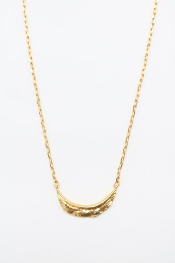 feather motif top cable chain necklace