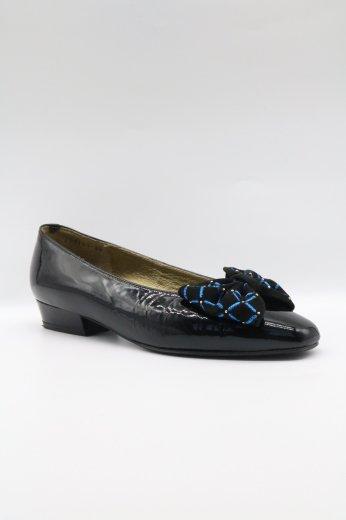 【vintage】Yves Saint Laurent / square toe patent leather ribbon pumps 35