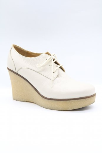 【vintage】agnes b. / wedge sole leather shoes 38