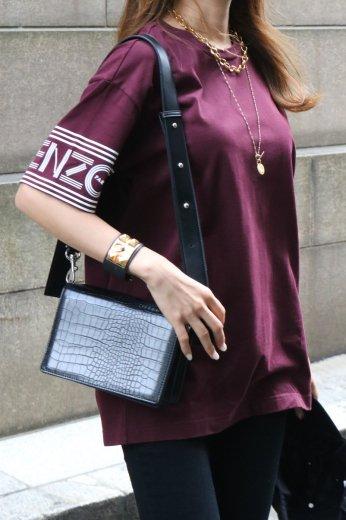 【USED】KENZO / logo printed sleeve crew neck oversize tee shirt