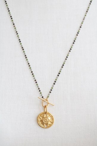 <img class='new_mark_img1' src='https://img.shop-pro.jp/img/new/icons14.gif' style='border:none;display:inline;margin:0px;padding:0px;width:auto;' />multi color beads mix chain coin necklace