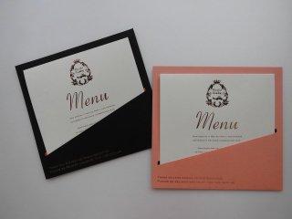 結婚披露宴 メニュー表 手作り用紙キット ポケット(ブラウン・ピンク)