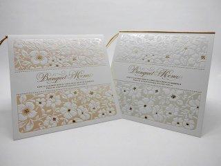 結婚披露宴 メニュー表 手作り用紙キット フィオラ(ホワイト・ピンク)