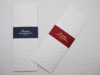 結婚披露宴 席次表 手作り用紙キット レディアン(ブルー・レッド)