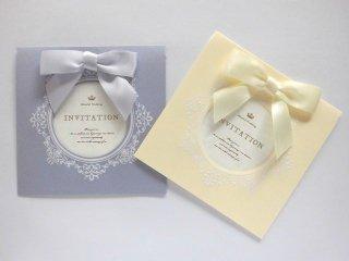 結婚式 招待状 手作り用紙キット マムール(バニラ・ラベンダー)