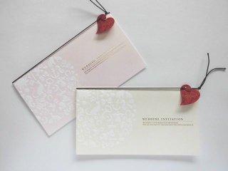 結婚式 招待状 手作り用紙キット フォルトゥナ(ゴールド・ピンク)