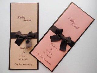 結結婚披露宴 席次表 手作り用紙キット スイート(ブラウン・ピンク)