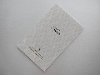 結婚披露宴 メニュー表 手作り用紙キット グラシア