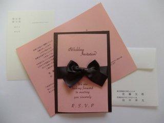 結婚式 招待状 印刷込み60セット(お好きな印刷用紙をお選びいただけます)