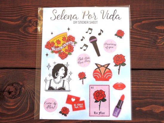 MI VIDA ミヴィダ オリジナル Selena Por Vida DIY Sticker Sheet