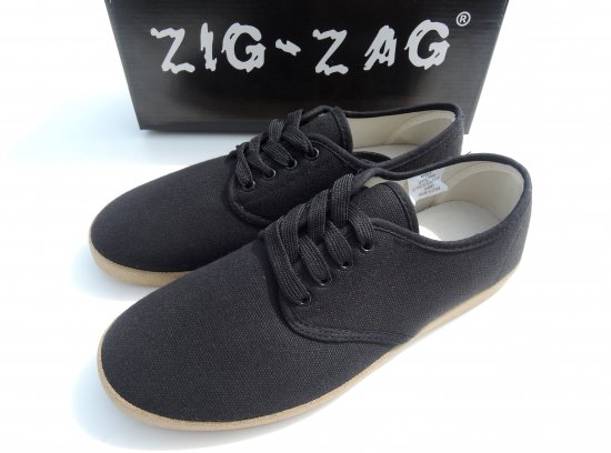 ZIG ZAG  Winos Shoes Lace Up Black/Gum Sole  #7201  Black ブラック