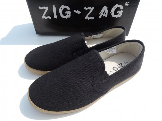 ZIG ZAG  Slip-On Shoes Black/Gum Sole スリッポン #7206  Black ブラック