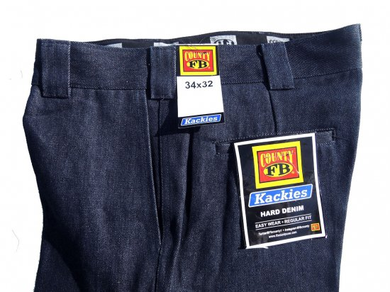 FB County Men's Hard Denim Pants Indigo ハードデニム インディゴ