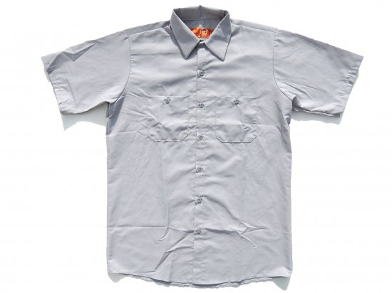 <img class='new_mark_img1' src='https://img.shop-pro.jp/img/new/icons53.gif' style='border:none;display:inline;margin:0px;padding:0px;width:auto;' />RED KAP  SHORT  SLEEVE  INDUSTRIAL  WORK SHIRT レッドキャップ  半袖ワークシャツ  SP24  SILVER GREY